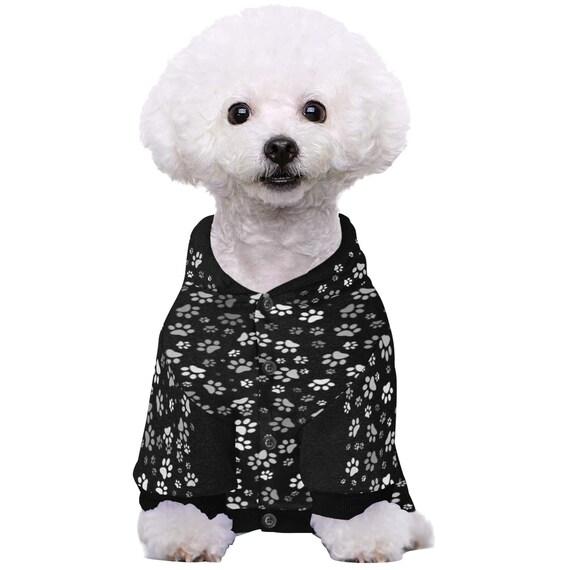 Dog Paw Doggie Hoodie   Paw Print Hoodie For Dogs