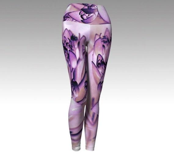 Flower Yoga Leggings | Floral Art Leggings | High Waist Leggings