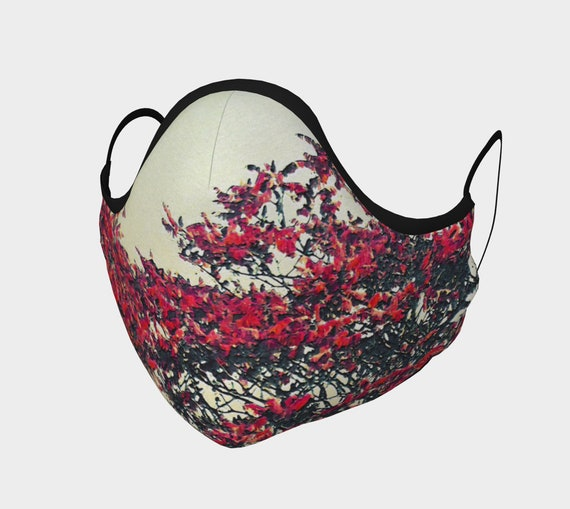 Nature Art Face Mask Printed Art Face Covering Artist Designed Custom Printed Available In Adult and Youth Sizes