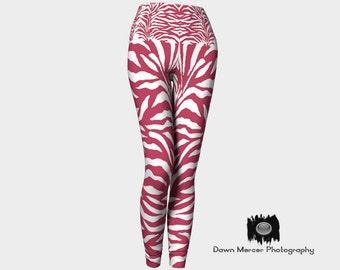 Zebra Print Leggings, Chic Zebra Print Tights Leggings, Yoga Pants, Art Tights, Women's Premium Fashion Leggings, FREE SHIPPING