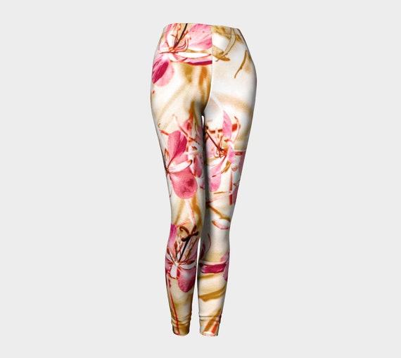 50198889473c7 ... Flower Art Leggings Womens Printed Floral Leggings Premium Leggings  Wildflower Art Leggings Custom Printed Artist Designed