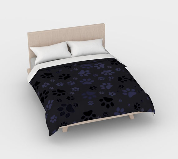 Dog Paws Duvet Cover Set | Paw Print Bedding Set | Dog Paw Design | Custom Printed | Artist Designed