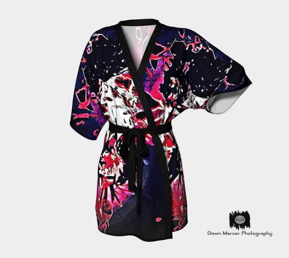 Funky Kimono Robe Artsy Silky Robe Printed Kimono Robe Premium Kimono Robe Silky Kimono Robe Chiffon Kimono Robe Unique Kimono Robe Womens