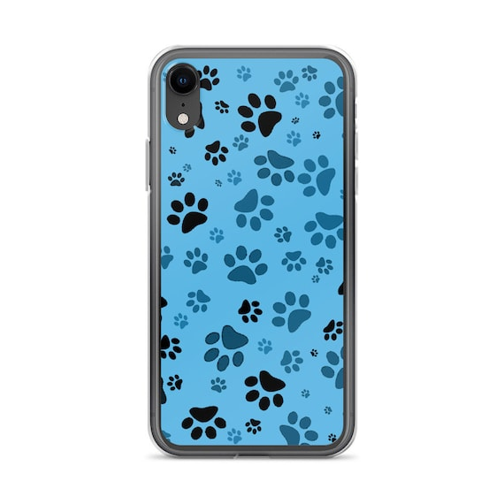 Blue Paw Print iPhone Case | Dog Paw iPhone Cover | iPhone Protector