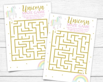 Unicorn Maze Game Etsy