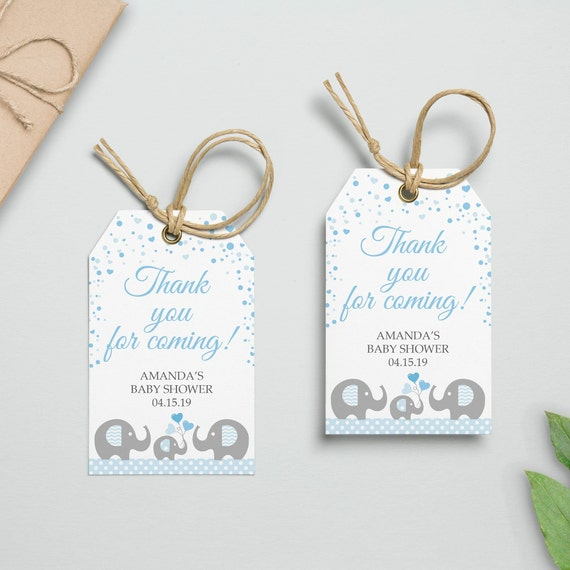 picture regarding Printable Baby Shower Labels identified as EDITABLE Elephant Blue Kid Shower Desire Tags, Printable Little one Shower Tags, Choose Labels, Blue Elephant Tags, Thank oneself Tags Instantaneous DOWNLAOD
