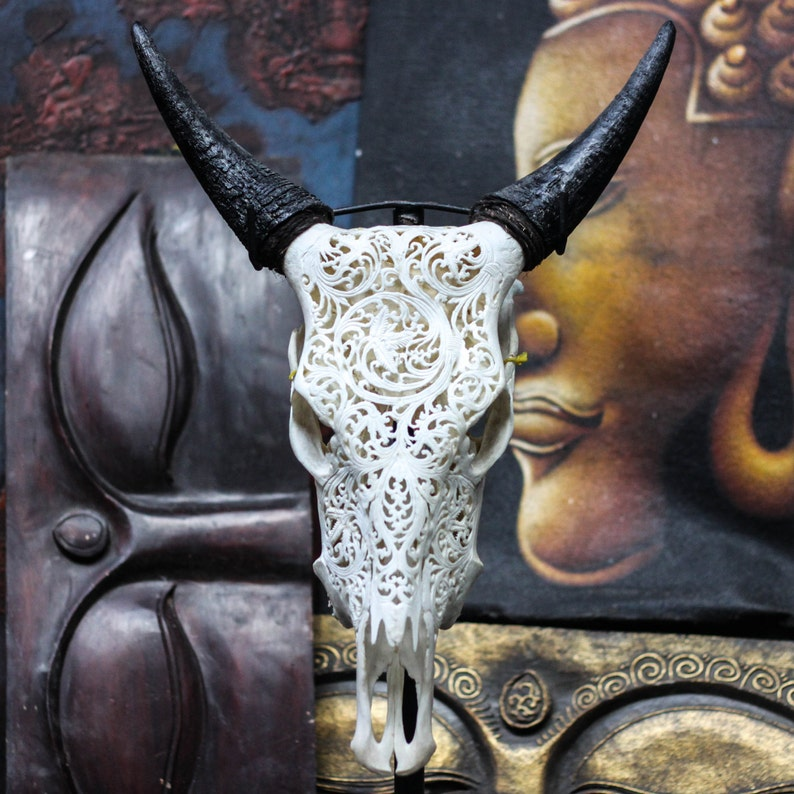 Altri Complementi D'arredo True Cow Horn Arredamento D'antiquariato Nice Vere Corno Di Mucca