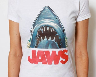 c44a9a0f1 Vintage JAWS Tee / Shark Shirt / JAWS Tshirt / Vintage Movie