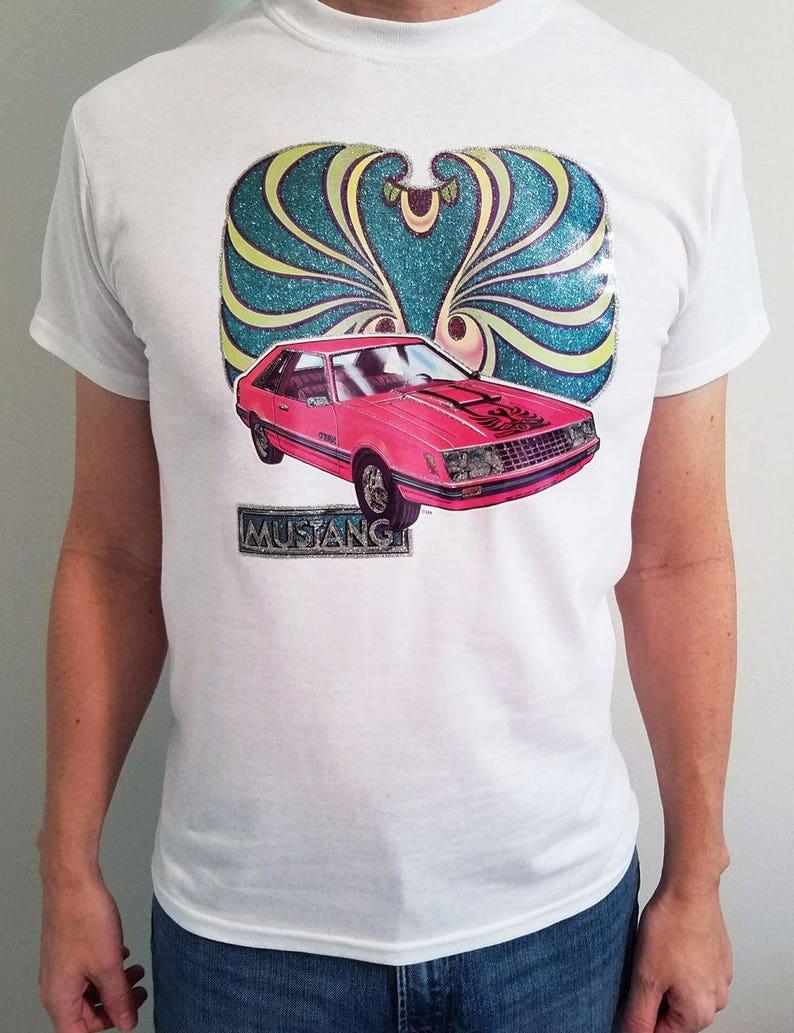 Shirt Jtkc31fl Chemise Voiture Vintage Tee Mustang 70etsy Des Années kuZiTOPX
