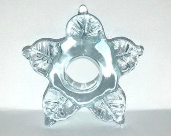 Flat Flower Aqua Snowflake -reserved-