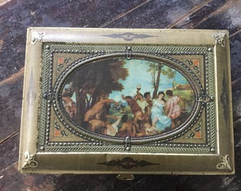 Large, Vintage, Tin, Box, Old Tin Box, Large, Container