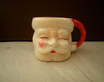 Vintage Santa mug-Christmas decor-eggnog mug-cider mug-collection-