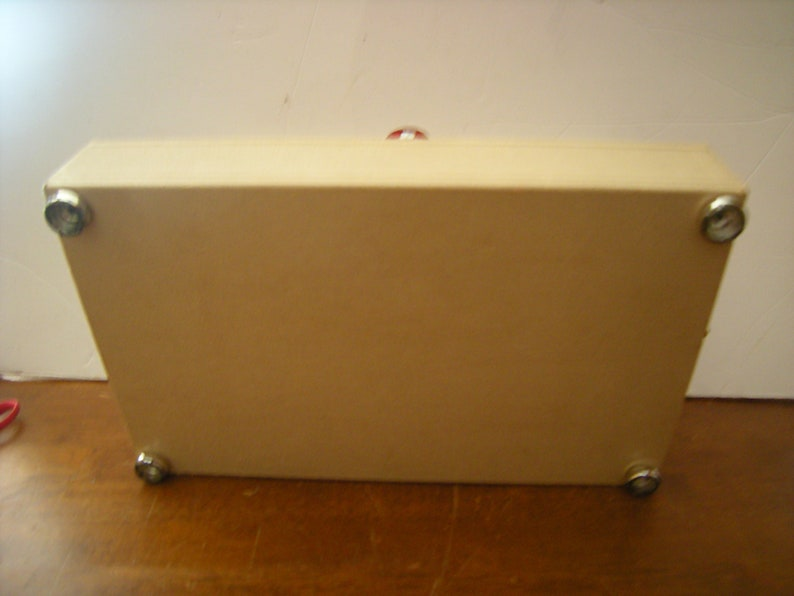 7 compartments-pocket-vanity top-storage-organization- vtge jewelry box-2 tiers box-6 hooks-red sateen lined
