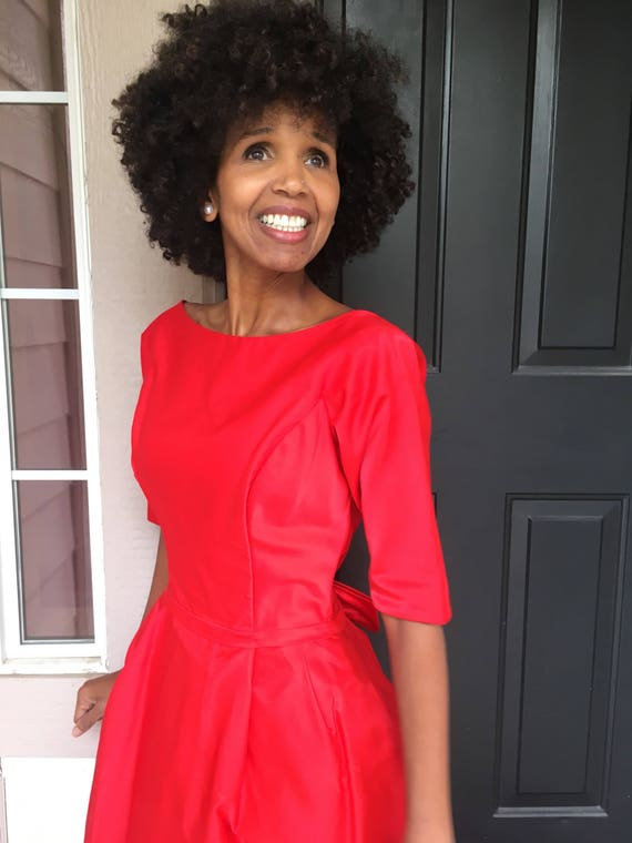 fifties dress Lorrie Deb red retro holiday party s