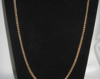 "Vintage gold tone 24"" necklace"