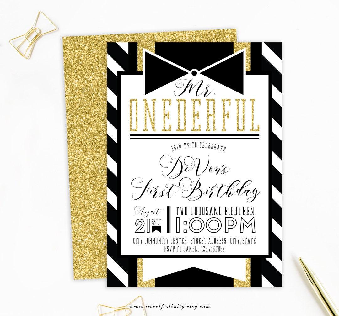 Mr. Onederful Invitation Mr. Onederful Party 1st Birthday | Etsy