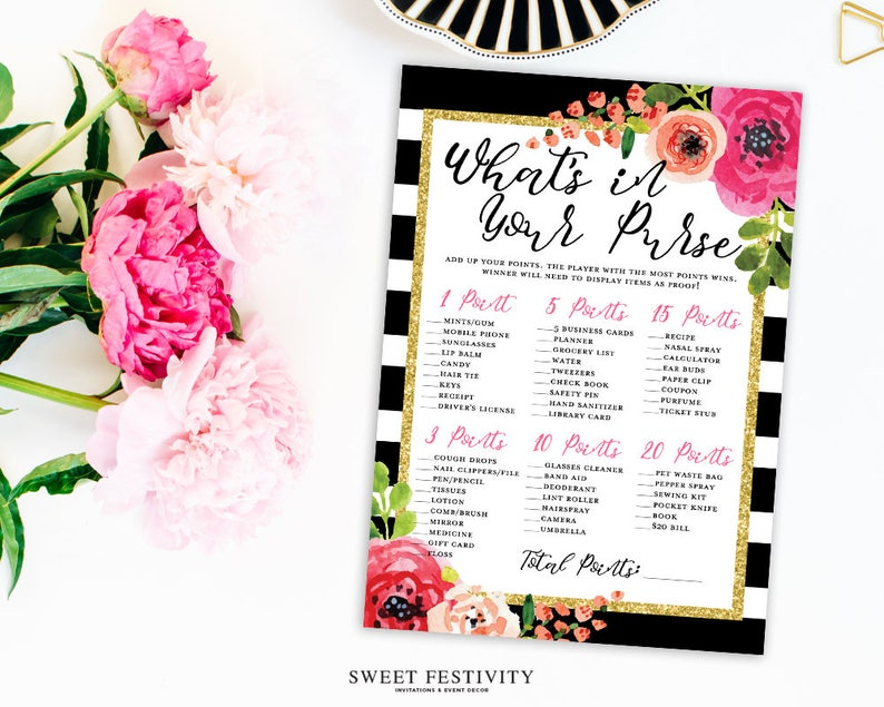 613e6397233 Bridal Shower Purse Game Bridal Shower Game Printable