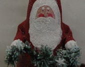 Folk Art Santa (X-SANTA-SNOW)