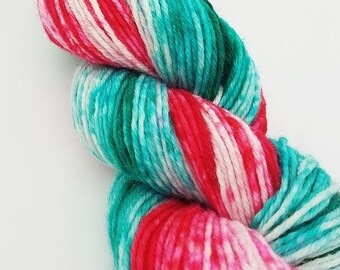 Superwash 4ply wool/nylon, sock yarn, Hand Dyed gradient, 100g