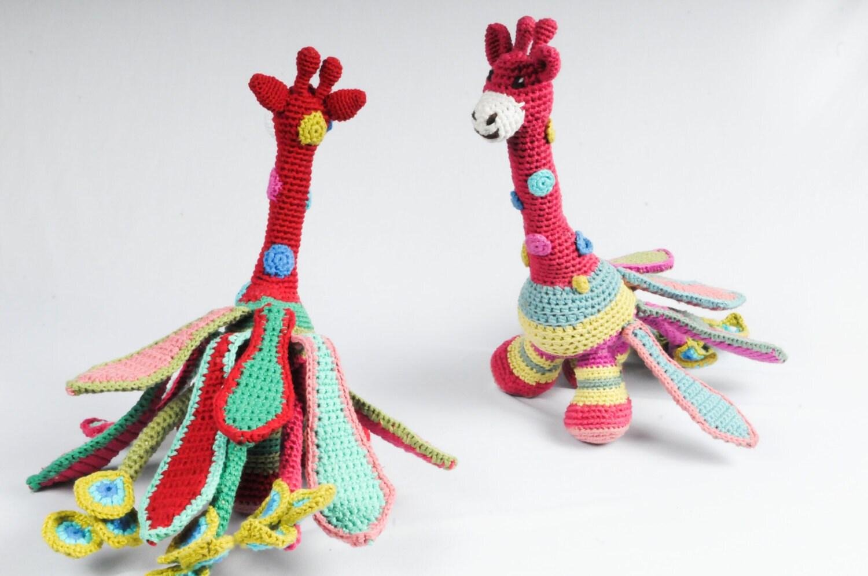 Peacock giraffe Amigurumi crochet pattern Alebrije DIY   Etsy