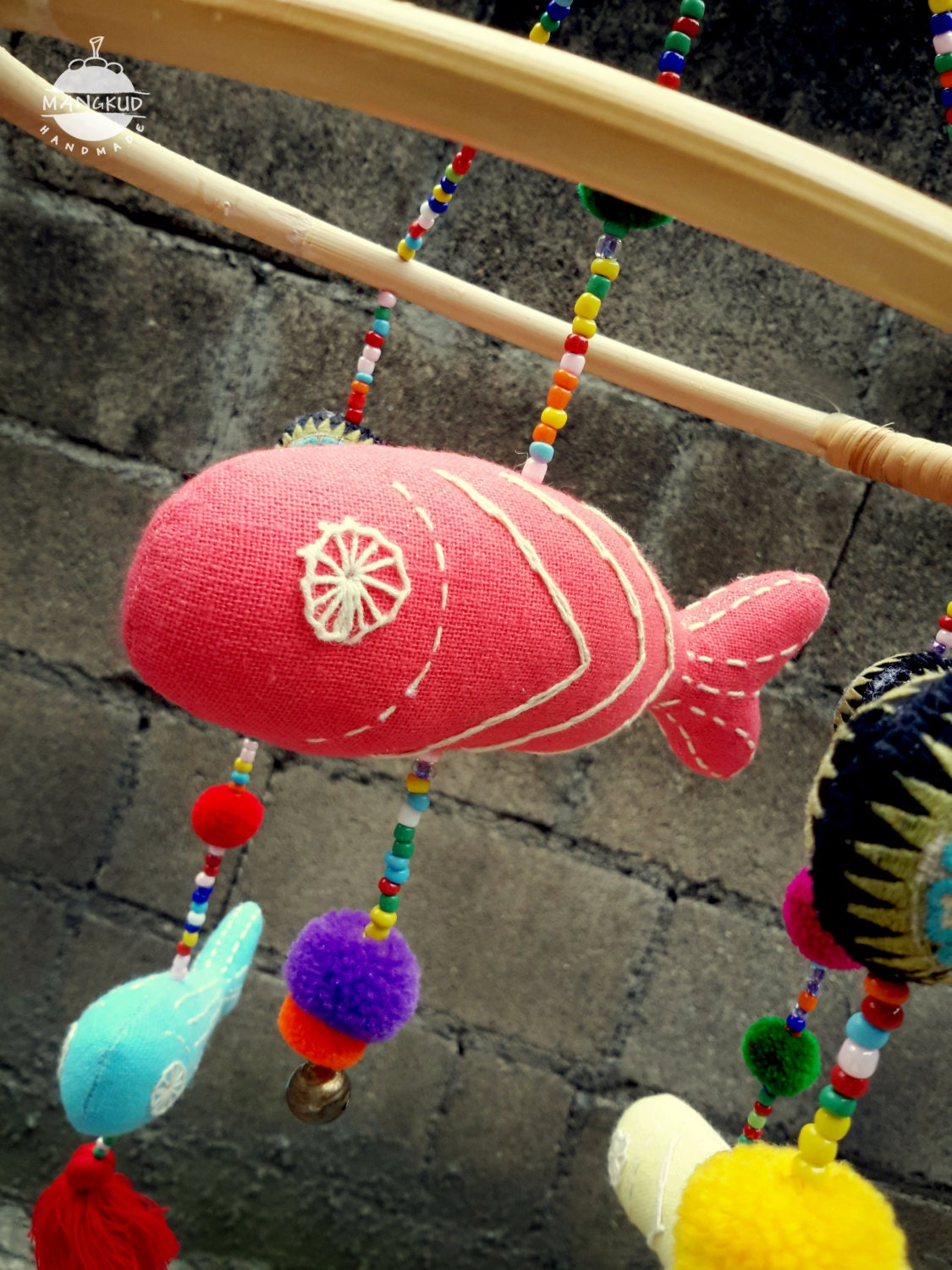Colorful Fish Crib Mobile, Fish Crib Mobile, Baby Fish Crib Mobile ...