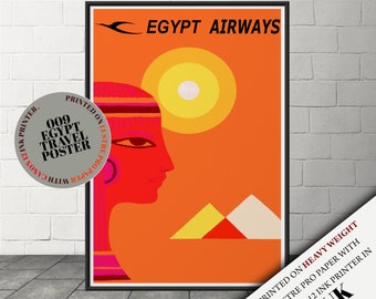 Egypt Travel Poster Etsy