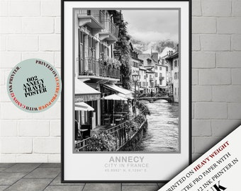 Vintage Style Annecy Retro Wall Art,travel poster,Annecy France Travel wall decor ,travel wall art Travel poster,gift-002