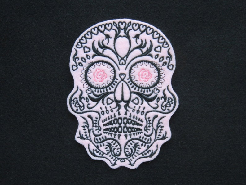 """Biker GRIM REAPER  applique Iron on Patch Xtra LARGE Goth 4.5/"""" by 3.5/"""" Goth"""
