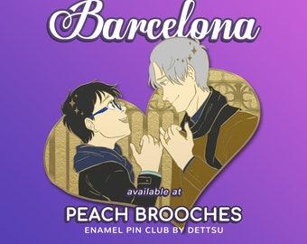Peach Brooches: Pin Club Special Sale BONUS feat. Victor Nikiforov and Yuuri Katsuki