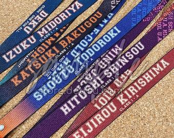 Boku no Hero Academia character lanyards feat. Aizawa Present Mic All Might Endeavor Hawks Deku Kacchan Shouto Shinsou Kirishima