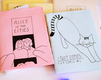 Mini Zines / Alice in the Cities, Cat Comic, illustration