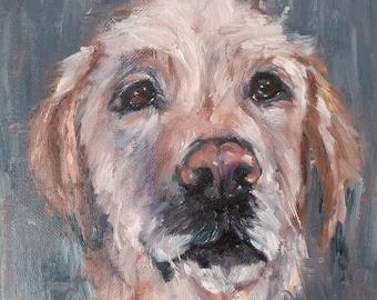Custom pet portrait, custom dog portrait painting, custom dog painting, custom pet painting, pet portrait, oil painting on stretched canvas