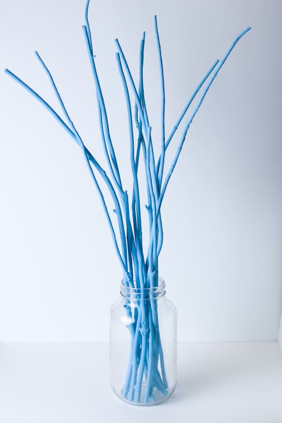 Decorative Painted Branches For Wedding Centerpieces Etsy