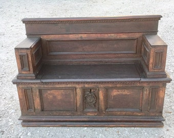Incredible Antique Church Pew Etsy Cjindustries Chair Design For Home Cjindustriesco