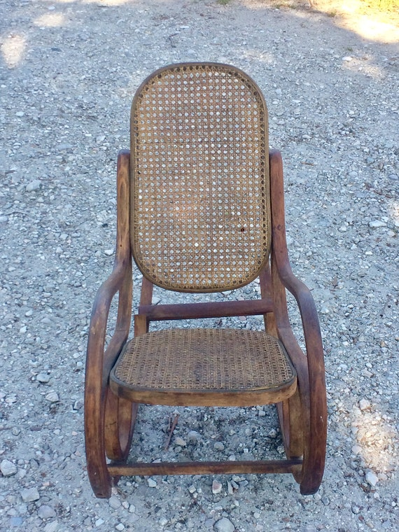 Swell Vintage Mid Century 1940S Bentwood Childs Rocking Chair Cane Back And Seat Cottage Stlye Free Usa Shipping Spiritservingveterans Wood Chair Design Ideas Spiritservingveteransorg