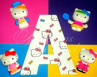 """Hello Kitty 8"""" Letter For Your Perfect Little Girls Room."""