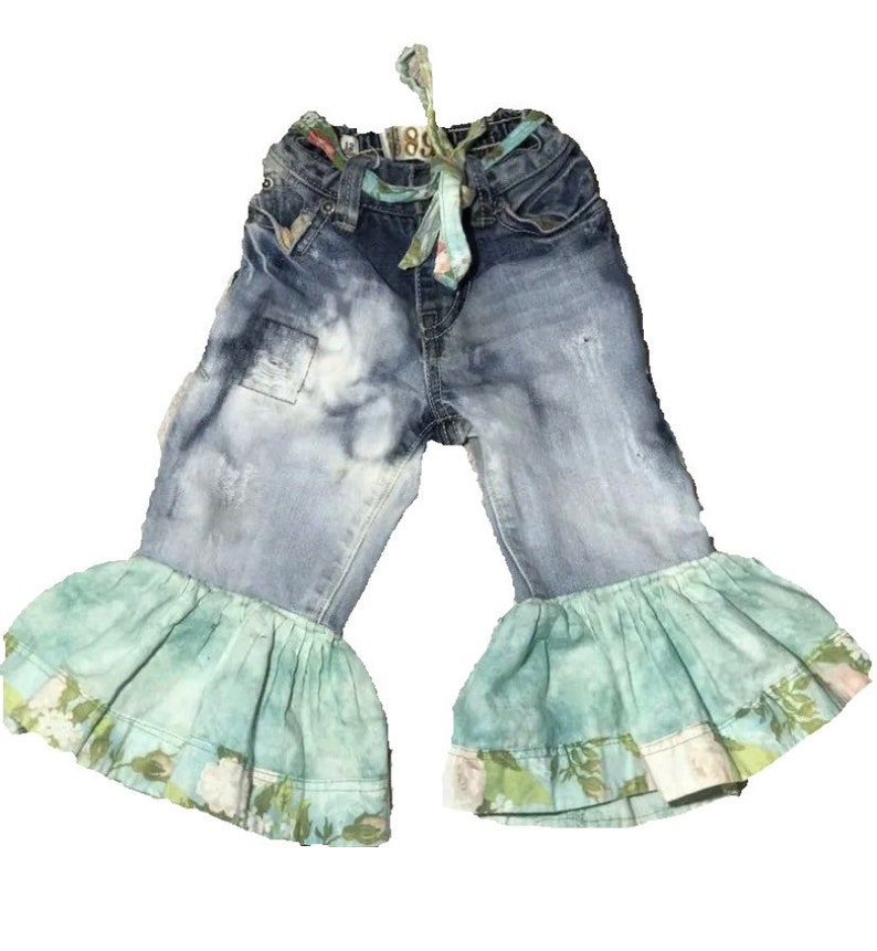 a92f8ee32003 Baby belles 12 months bell bottoms flare boho girl s jeans