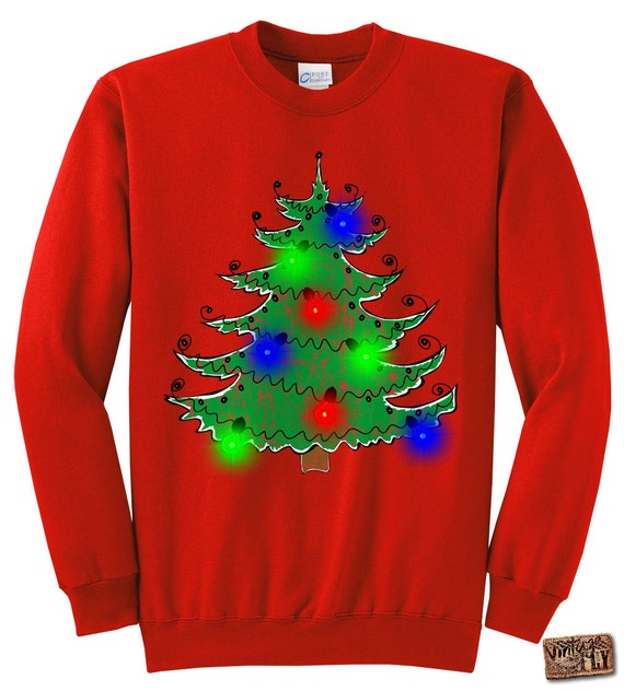 image 0 - Ugly Christmas Sweater LIGHT UP Gift Christmas Tree Etsy