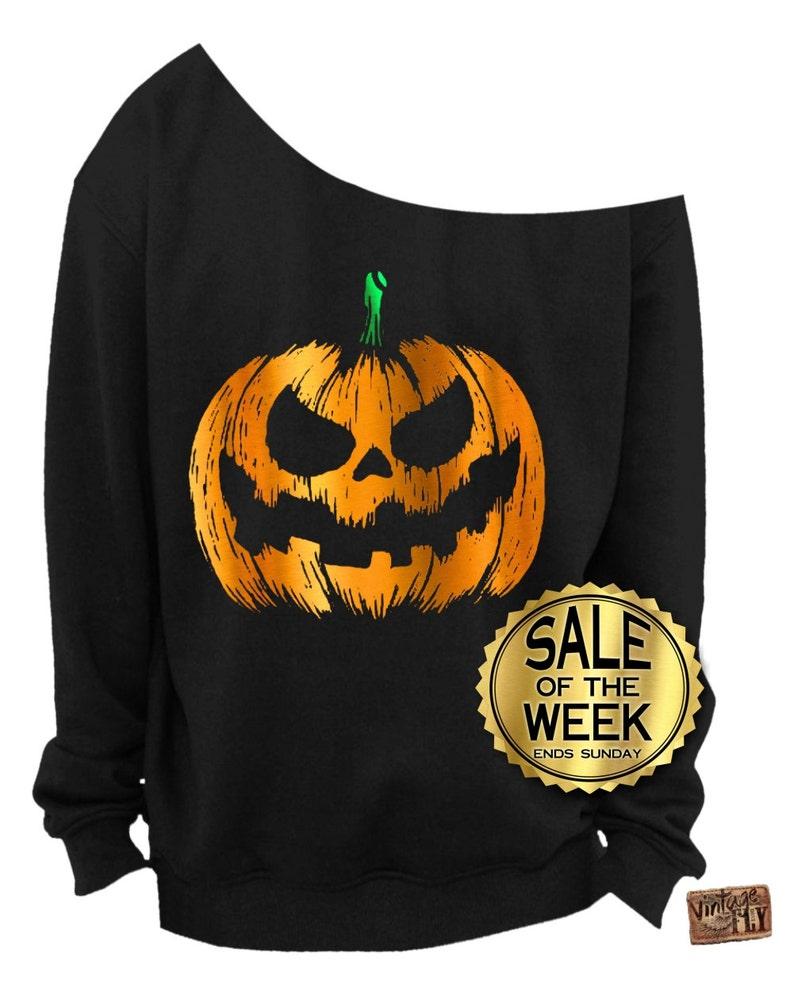 Uit Eten Met Halloween.Halloween Inkt X Schouder Uit Slouchy Sweatshirt 3 Folie