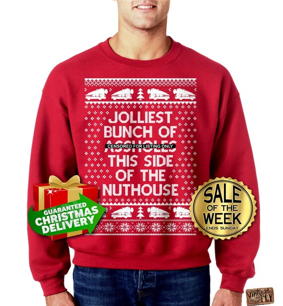 Jolliest Bunch Of Assholes Ugly Christmas Sweater Unisex Etsy