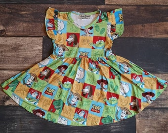 4cbfaed5c Toy Story Inspired Twirly Dress