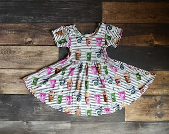 dbd6f86e9 Starbuck Coffee Inspired Twirly Dress