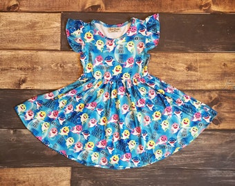 45053423d Baby Shark Inspired Twirly Dress