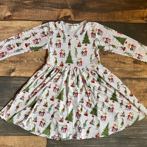 12yrs Mr Grinch Christmas Inspired Dress with FREE Scarf made to measure Age 3yrs