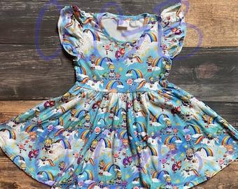 Rainbow Brite Twirly Dress
