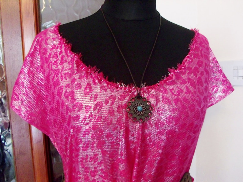 Hand Made New HADLEY Gorean Kajira Fringed Bright Pink Camisk Pleasure Slave /& Tribal Necklace Outfit Size 14-34 Free UK PP