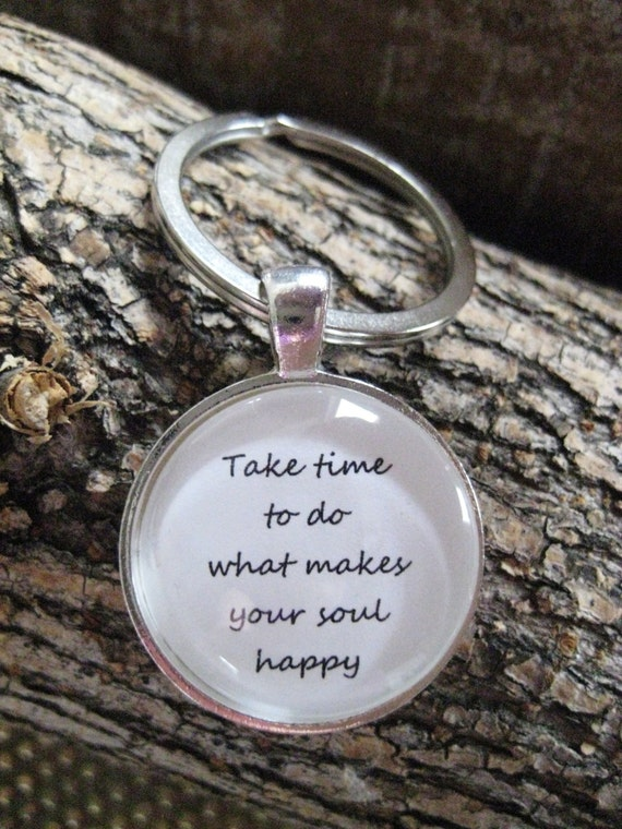 7d3133e675 Happy Soul Keychain keychain gift keyring gift happy | Etsy