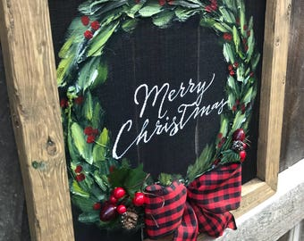 Merry christmas with bowl 3d original handmade