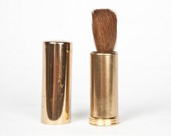 Vintage Retractable Brass Lens Brush