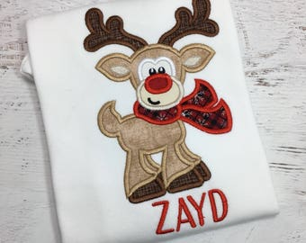 94906c5b77bb6 Boy Christmas Outfit - First Christmas - Christmas Reindeer Outfit - Reindeer  Outfit - Christmas bodysuit - Boy Reindeer